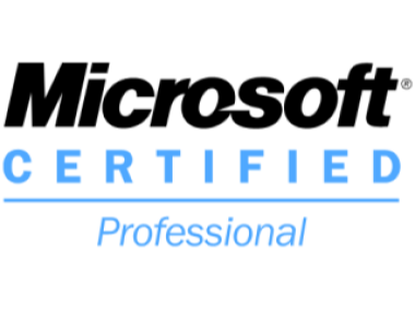 Microsoft Certified Professional cropped to edges width
