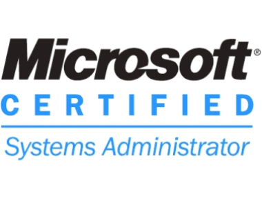 Microsoft Certified Systems Administrator cropped to edges width
