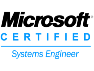 Microsoft Certified Systems Engineer cropped to edges width